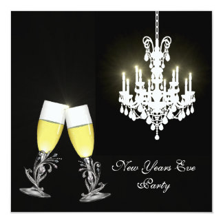 Chandelier New Years Eve Party Invitation