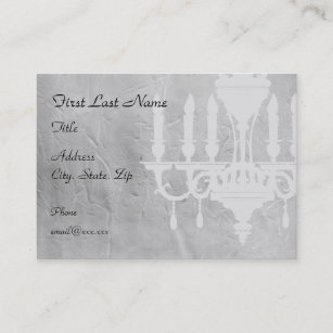 Chandelier home business cards zazzle nz chandelier on creased grey paper business card reheart Gallery