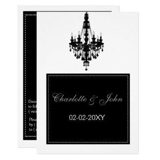 Chandelier wedding invitation
