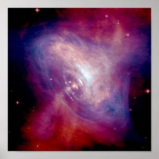 Chandra Crab Nebula NASA Poster
