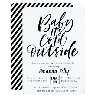 CHANGE COLOR - Modern Baby Shower Invitation