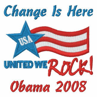 Change Is Here, Obama 2008 Embroidered Shirt