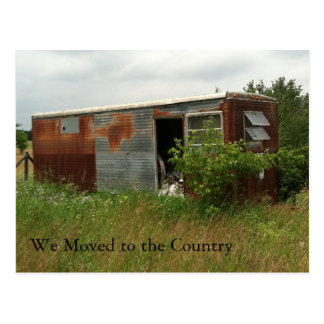 Change of Address Card: Moved to the Country Postcard