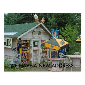 Change of Address Card: Northwoods Ice Cream Shop Postcard
