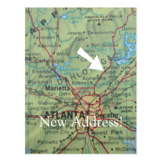 Change of address card postcard