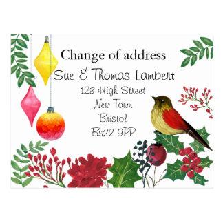 Change of address christmas postcard