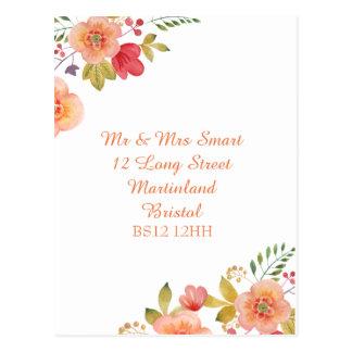 Change of address Elegant floral postcard