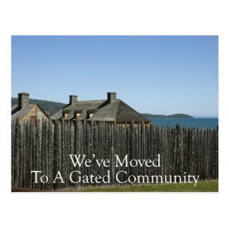 Change of Address - Gated Community Postcard
