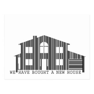 Change of address idea: Bought a new house barcode Postcard