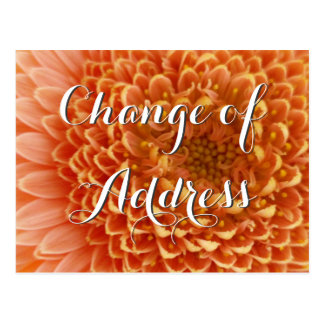 Change of address postcard with flower photography