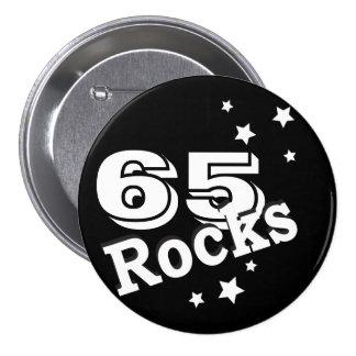 (Change the Age) Birthday Rocks 7.5 Cm Round Badge