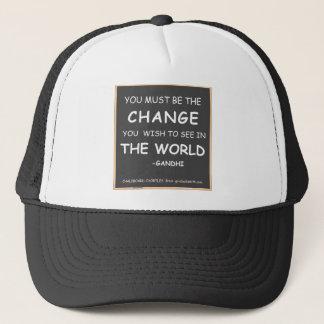 Change-World-Gandhi Trucker Hat