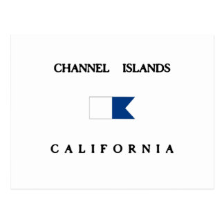 Channel Islands California Alpha Dive Flag Postcard
