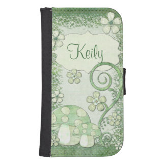 Chantily Whimsical Mixed Media Samsung S4 Wallet Case