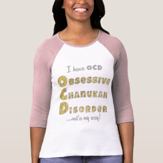 "Chanukah Women's 3/4 Raglan Sleeve T-Shirt ""OCD"""