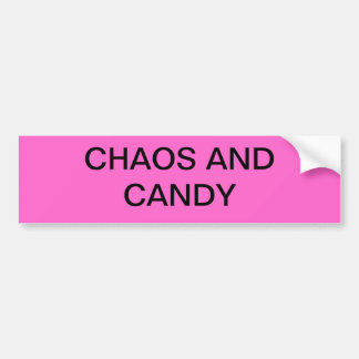 Chaos and Candy Bumper Sticker