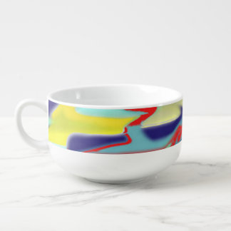 chaos into form 1 design soup bowl red blue yellow