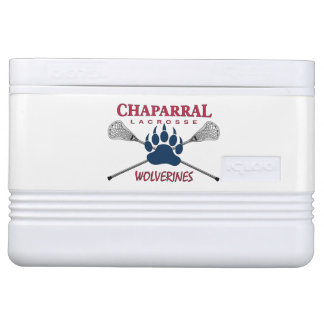 ChapLAX Claw Logo on White - Igloo 12 can Cooler Chilly Bin