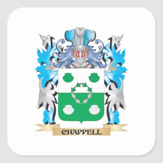 Chappell Coat of Arms - Family Crest Square Stickers