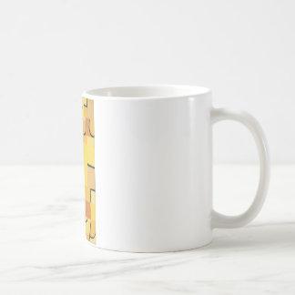 Characters in yellow by Paul Klee Coffee Mug