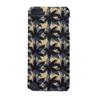 Charcoal Layered Leaves iPod Touch Case
