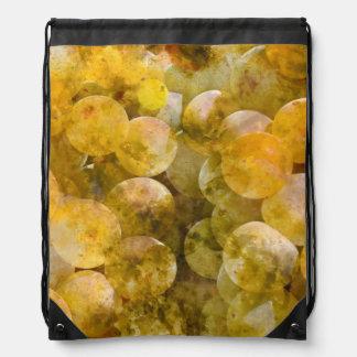 Chardonnay Grapes on the Vine Drawstring Bag