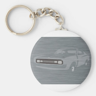 Charger Basic Round Button Key Ring
