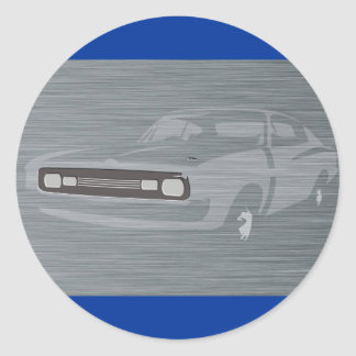 Charger Classic Round Sticker