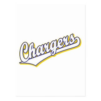 Chargers in Blue and Yellow Postcard
