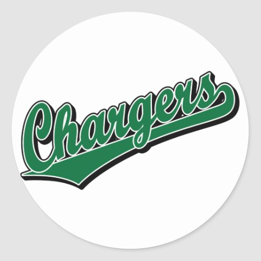 Chargers in Green Round Stickers