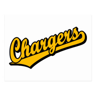 Chargers in Orange Post Card