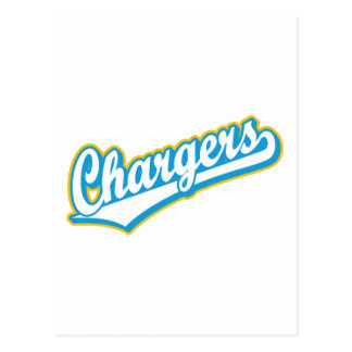 Chargers in Powder Blue and Yellow Postcard