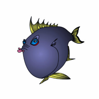 """""""Charlene"""" Fish With Attitude by Mike Quinn Photo Sculpture Badge"""