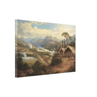 Charles Blomfield - Orakei Korako on the Waikato Canvas Print