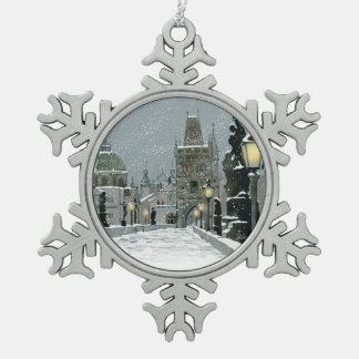 Charles Bridge Pewter Ornament