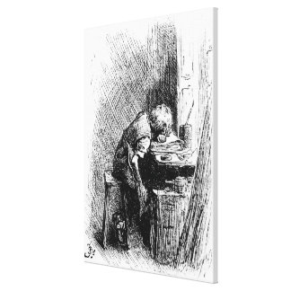 Charles Dickens at the Blacking Factory an Canvas Print