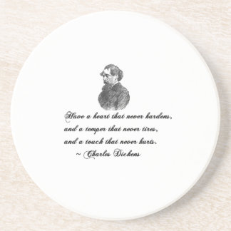 Charles Dickens Our Mutual Friend quote Coaster