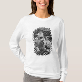 Charles Dickens with two of his daughters T-Shirt