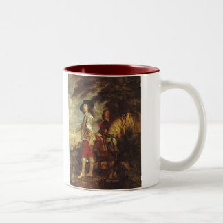 Charles I, King Of England At The Hunt by Van Dyck Two-Tone Coffee Mug