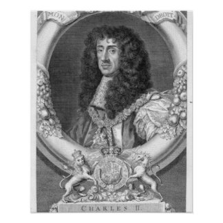 Charles II (1630-85) King of Great Britain and Ire Poster
