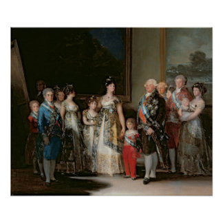 Charles IV  and his family, 1800 Poster