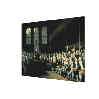 Charles James Fox  Addressing the House Canvas Print