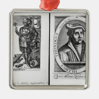 Charles Martel  and Martin Luther Christmas Ornament