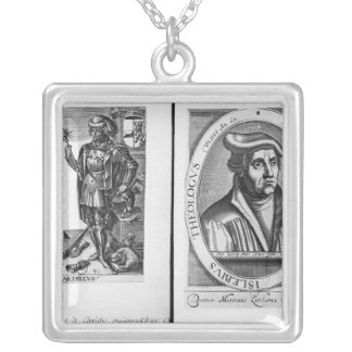 Charles Martel  and Martin Luther Silver Plated Necklace