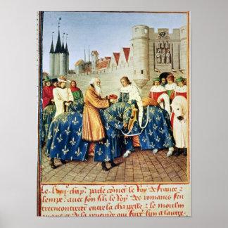 Charles V  receiving Emperor Charles IV Poster