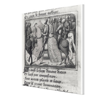 Charles VII  and Joan of Arc at the Siege of Canvas Print
