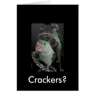 Charlie, Crackers? Greeting Card