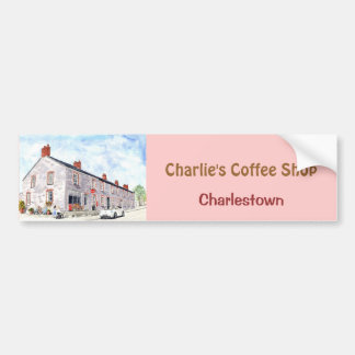'Charlie's Coffee Shop' Bumper Sticker Car Bumper Sticker