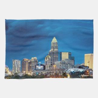 charlotte nc skyline tea towel