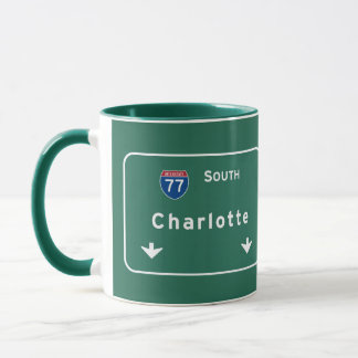Charlotte North Carolina nc Interstate Highway : Mug